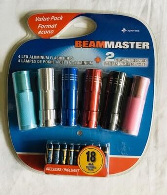 Value Pack Beam Master Led Flash Light