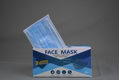 Disposable Blue Face Mask 3ply