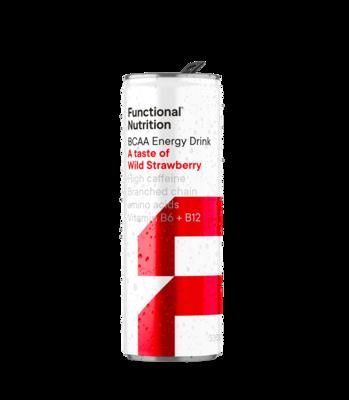 BCAA Energy Drink 330ml - Wild Strawberry