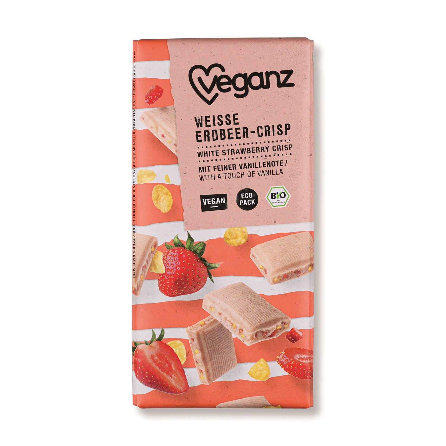 White Strawberry Crisp Organic 80g