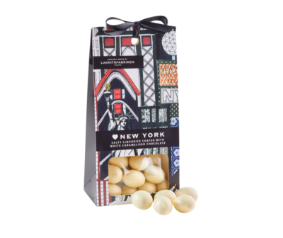 New York  Chocolate Dragee - Liquorice White Chocolate Dulce De Leche 125g
