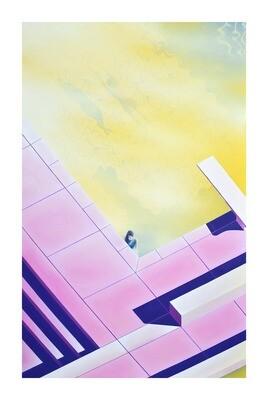 Fête à la piscine, 30x45 cm, édition limitée signée main