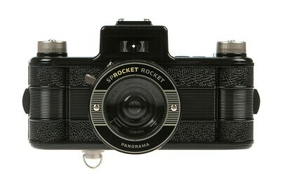 Sprocket Rocket 35 mm Film Panoramic Camera - Black