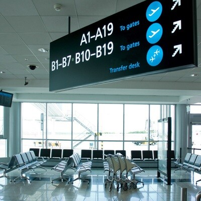 Cloud Signage for Airports