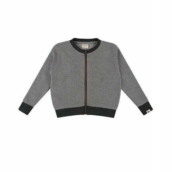 Textured Jersey Bomber Jacket