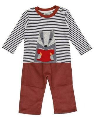 Badger Applique Trouser Set
