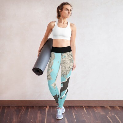 Mermaid Chart Yoga Leggings