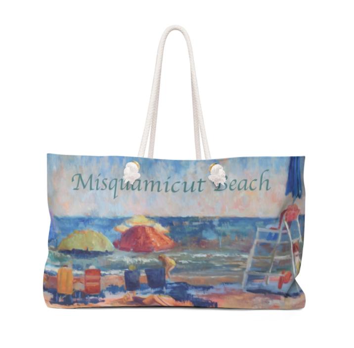 Weekender Bag with Beach Motif