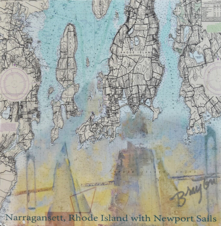 Julie Brayton Fine Art Narragansett Chart