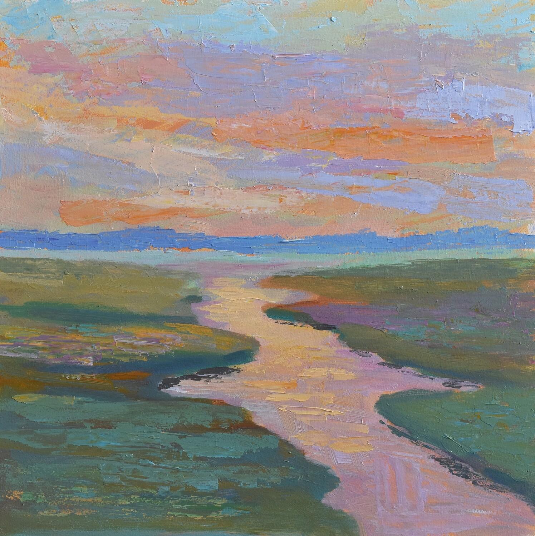 Julie Brayton Fine Art Marsh Landscape Acrylic Painting