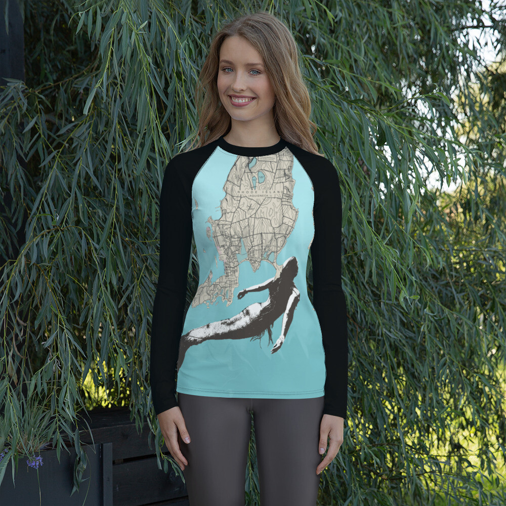 Mermaid Chart on Women's Rash Guard