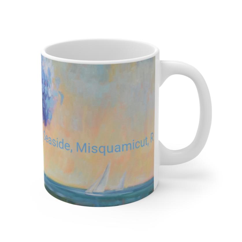 Hydrangeas By The Sea Mug 11oz