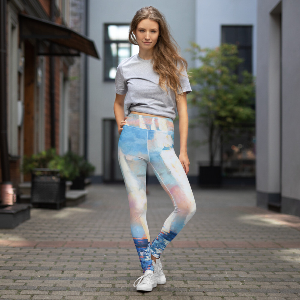 White Sails Yoga Leggings