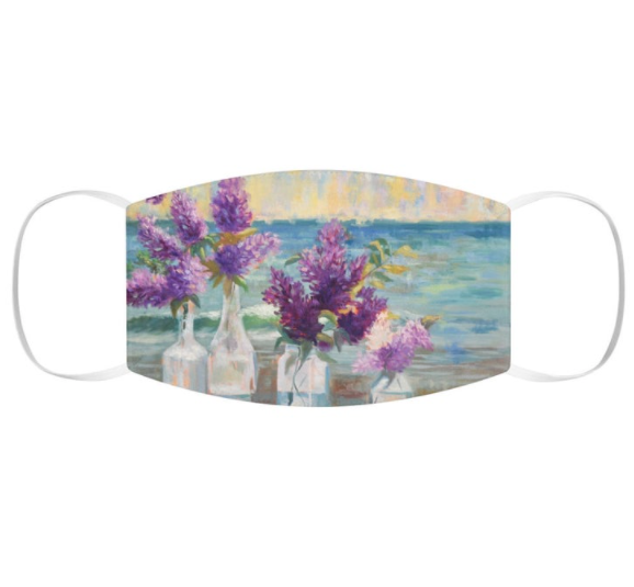 Lilacs By the Sea Snug-Fit Polyester Face Mask
