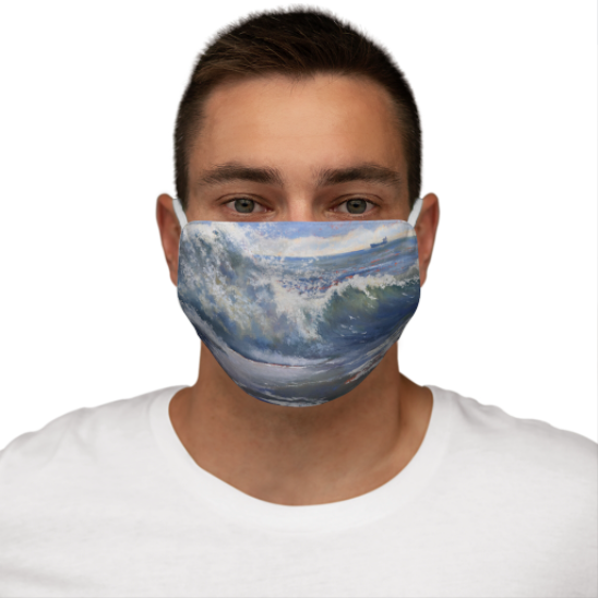 Waves Before Progress Snug-Fit Polyester Face Mask