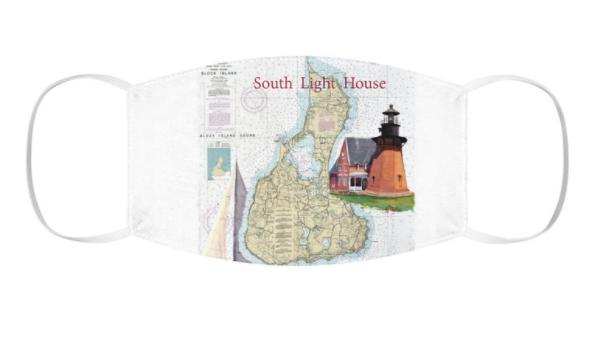 Block Island South Light Snug-Fit Polyester Face Mask