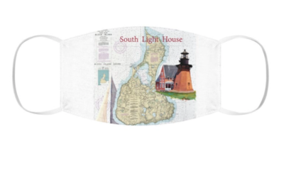 Block Island South Light Snug-Fit Polyester Face Mask