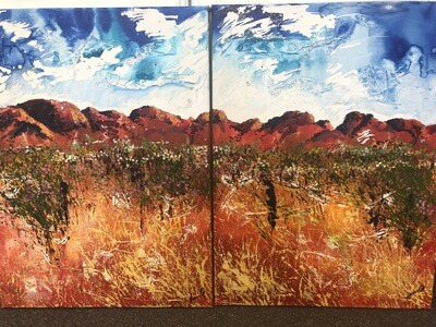 Longing for the land (Diptych)