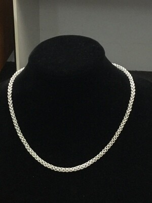 925 Silver 'Inverted Chainmaille' necklace