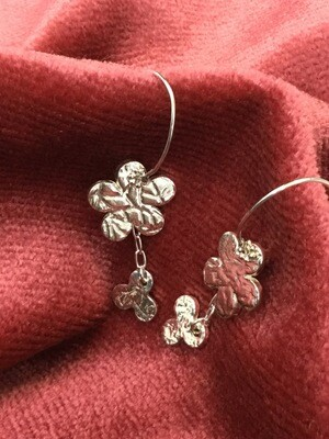 PMC Silver 'flowers' earrings