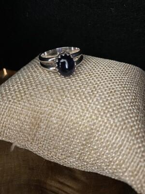 Dark Amethyst Cabochon Ring