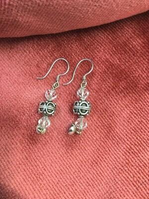 Earrings - Sterling Silver & Crystal