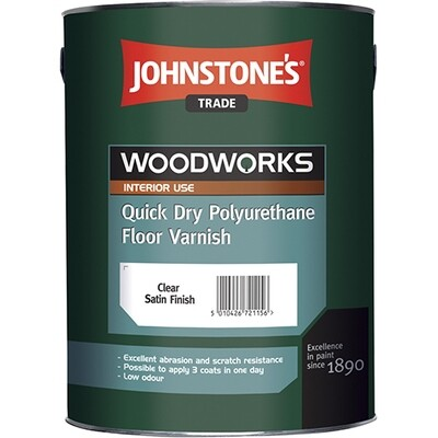 JOHNSTONE'S QUICK DRY POLYURETHANE FLOOR VARNISH