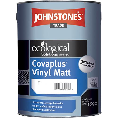 JOHNSTONE'S COVAPLUS VINYL MATT Водоэмульсионная краска для стен и потолков 2,5л. (BW)