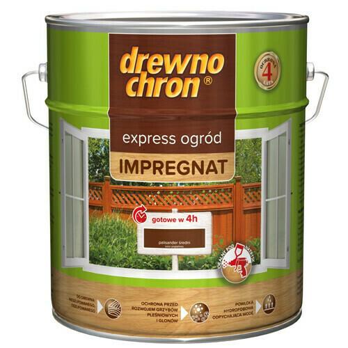 Пропитка для дерева DREWNOCHRON Impregnat Express 9л. (Темный орех)
