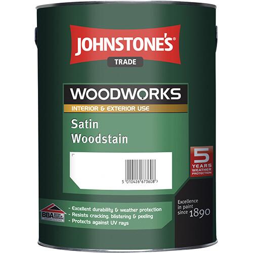 Защитный состав для древесины Johnstone's Satin Woodstain (Грецкий орех 2,5л.)