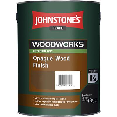Краска по дереву JOHNSTONES OPAQUE WOOD FINISH (Алкидная 5л BW)