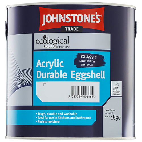 Краска Johnstone's Acrylic Durable Eggshell для влажных помещений 5 л. (U/PD)