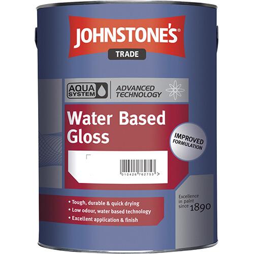 Высокопрочная глянцевая универсальная краска Johnstone's Aqua Water Based Gloss 1 л. (BW)