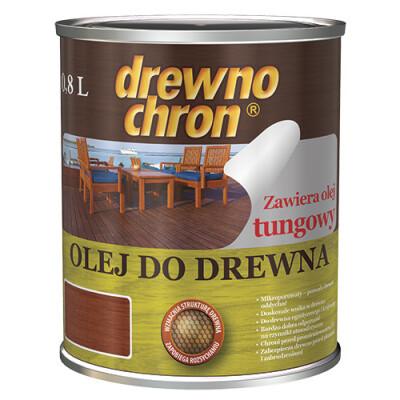 Масло для дерева Drewnochron 0,75 л.(Мербау русская этикетка)
