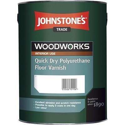 Лак для пола Johnstone's Quick Dry Polyurethane Floor Varnish Gloss 5 л.