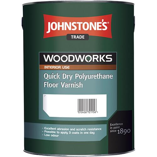 Лак для пола Johnstone's Quick Dry Polyurethane Floor Varnish Satin 2,5 л.
