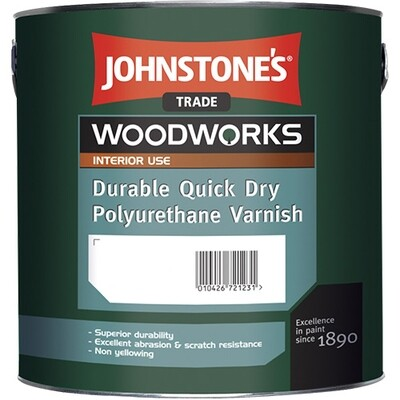 Быстросохнущий полиуретановый лак Johnstone's Quick Dry Polyurethane Varnish 0,75 л. (Глянцевый)