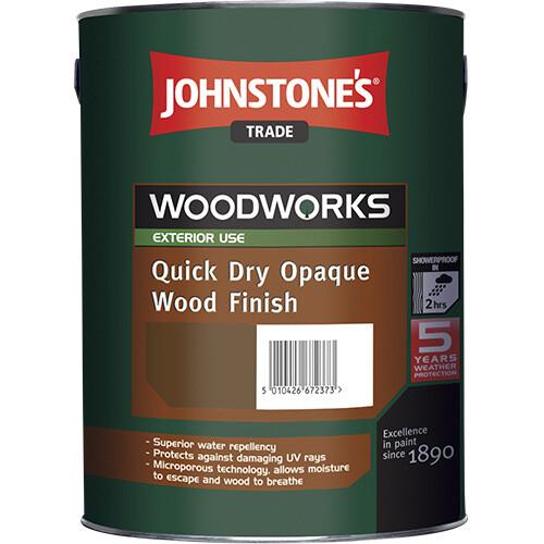 Быстросохнущая краска для дерева Johnstone's Quick Dry Opaque Wood Finish 5 л. (Белая)
