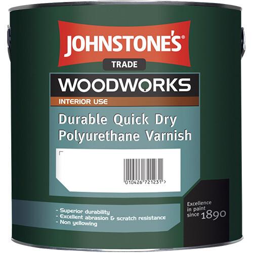 Быстросохнущий полиуретановый лак Johnstone's Quick Dry Polyurethane Varnish 2,5 л. (Глянцевый)