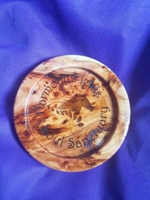 Reclaimed Yew wood Coaster