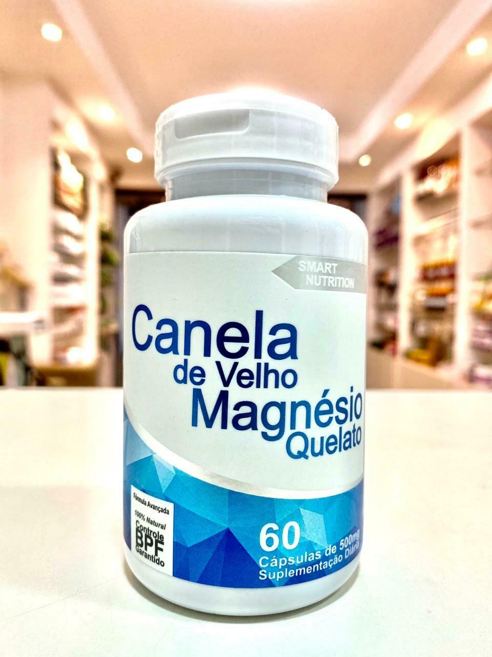 CANELA DE VELHO MAGNÉSIO QUELATO 500MG 60 CÁPSULAS