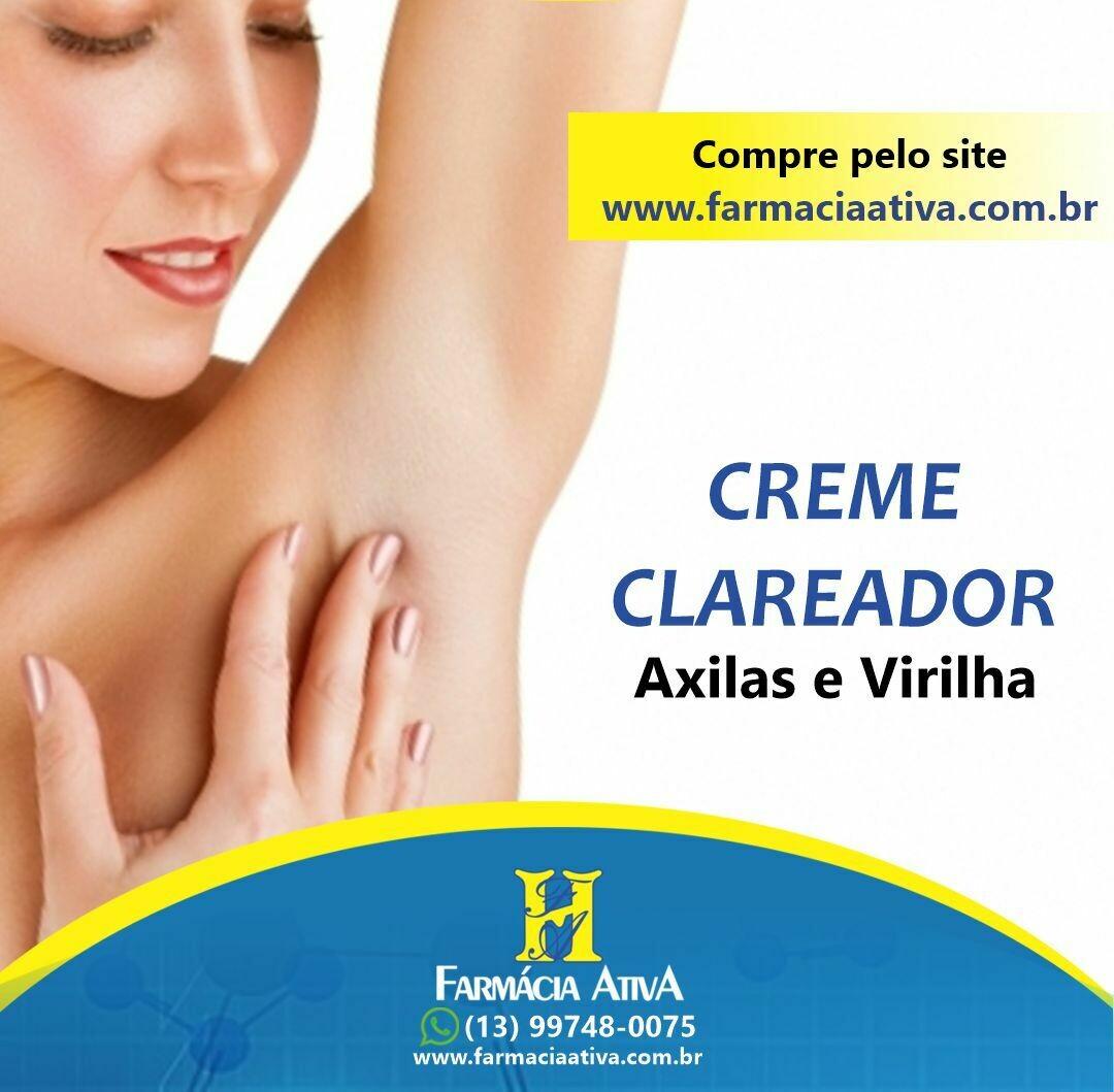 CREME CLAREADOR PARA VIRILHA E AXILAS 30GR MANIPULADO