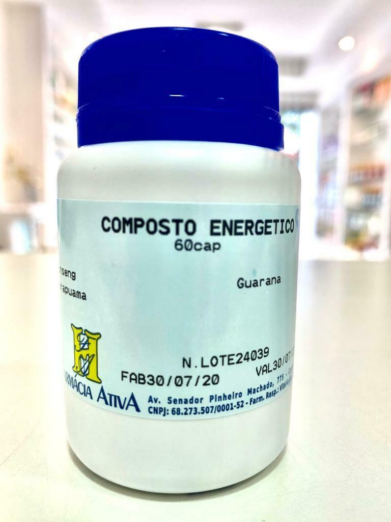COMPOSTO ENERGÉTICO 60 CÁPSULAS MANIPULADO