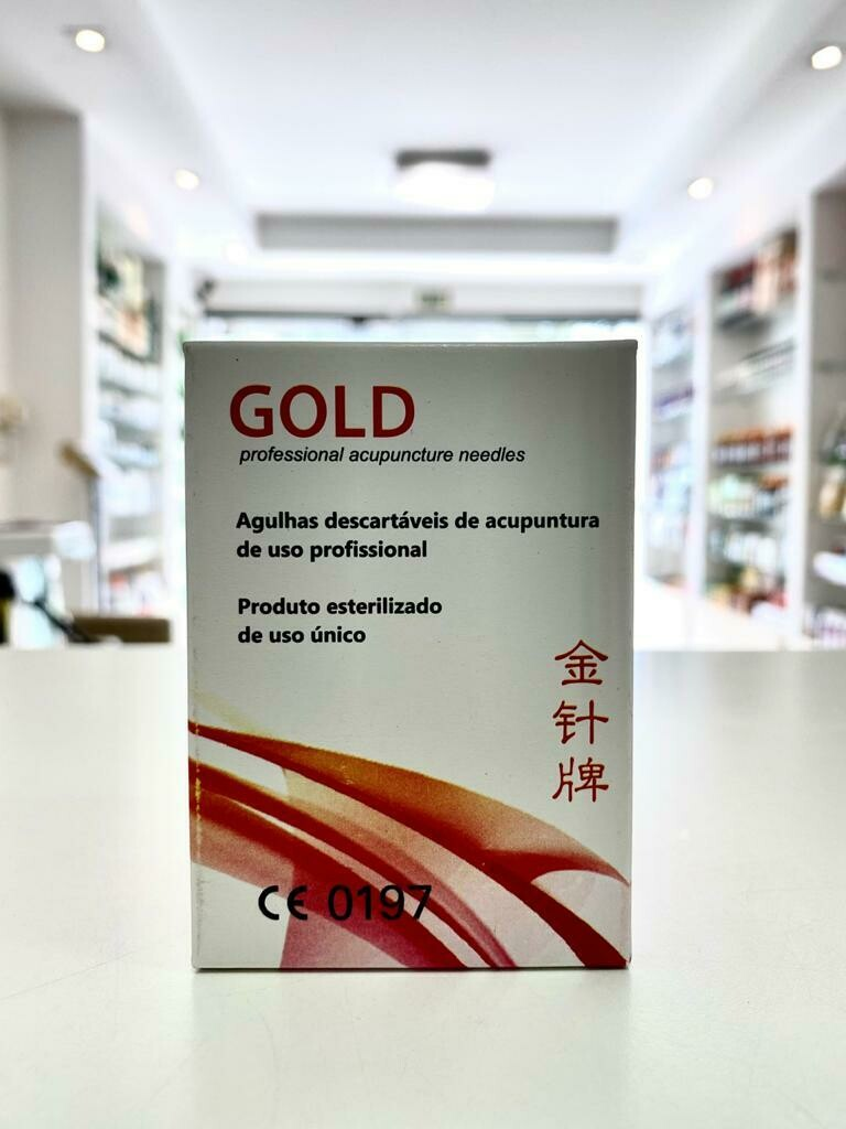 AGULHA PARA ACUPUNTURA GOLD 0,25X25 C/ 100 UNIDADES INDIVIDUAL