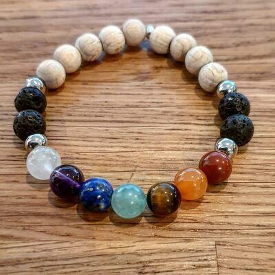 7 CHAKRAS, bracelet d'équilibre émotionnel