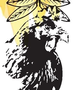 Marque-page avec dessin de Priya (poule)