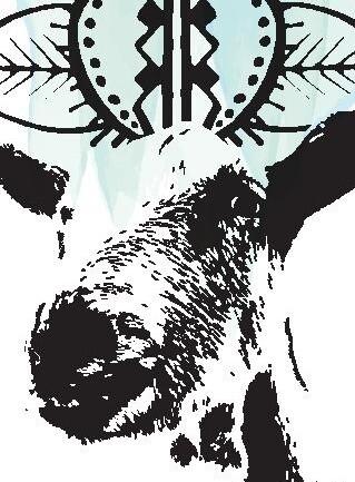 Marque-page avec dessin d'Alaska (chèvre)