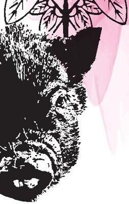 Marque page avec dessin de Makha (cochon)
