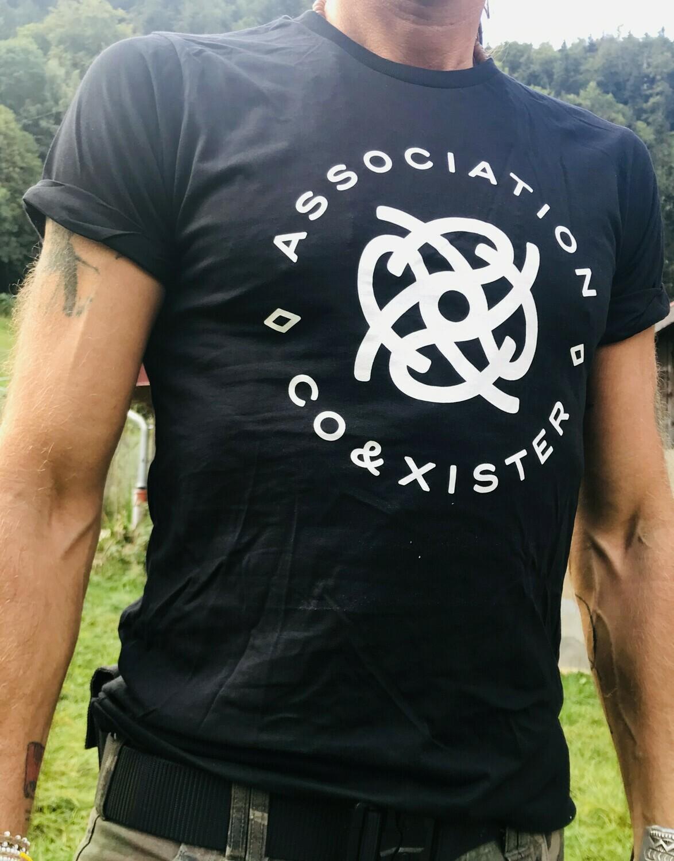 T-shirt noir en coton bio - coupe masculine