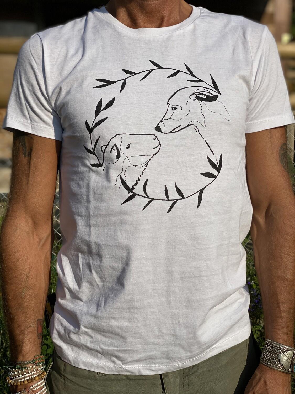 T-shirt blanc Alydhan & Meli - coupe masculine